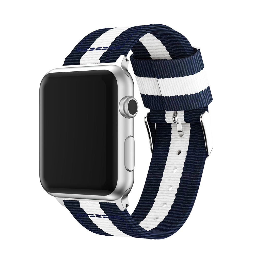 apple nylon watch band blue white 38mm