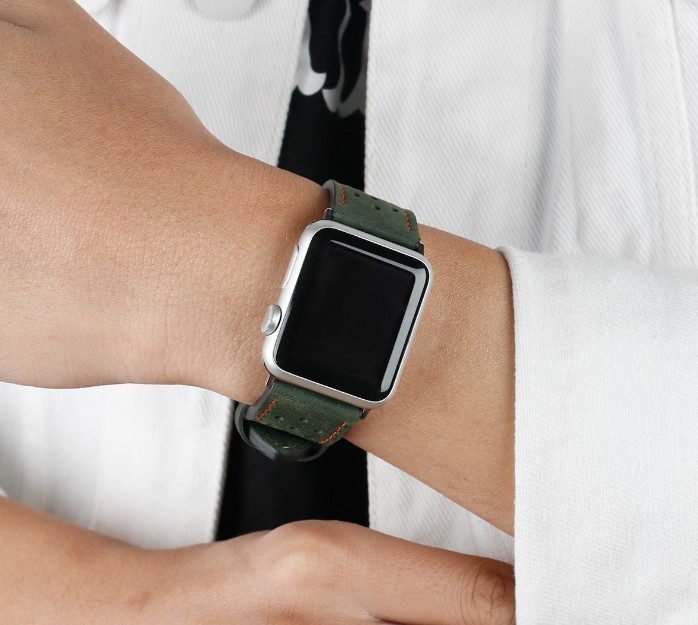 green leather strap apple watch 38mm