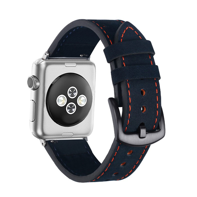 blue leather watch strap vintage apple watch