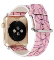 glitter watch strap pink leather apple watch