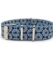 floral watch band nato nylon