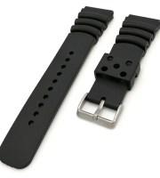 black rolex rubber strap military sport waterproof