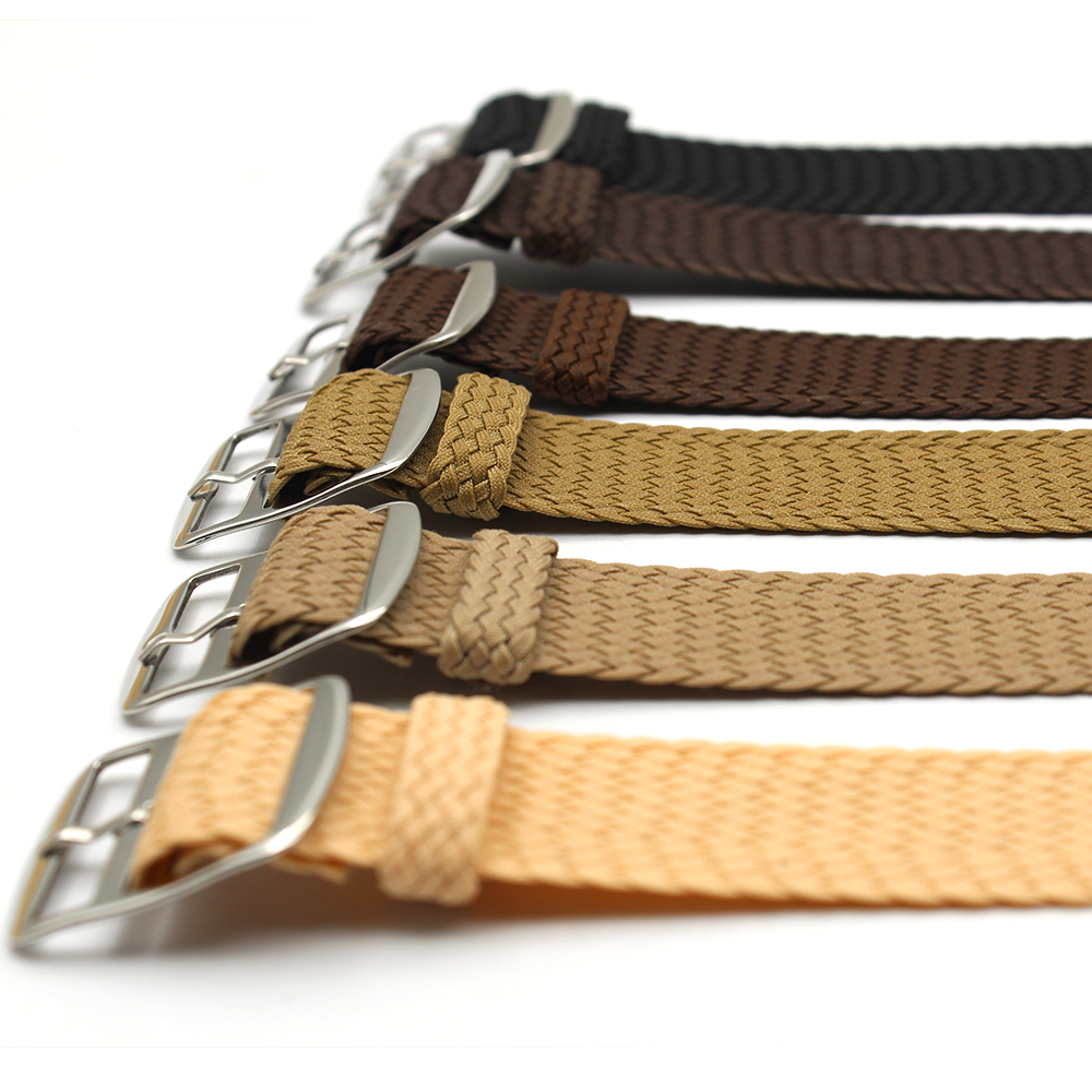 brown watch strap perlon nylon