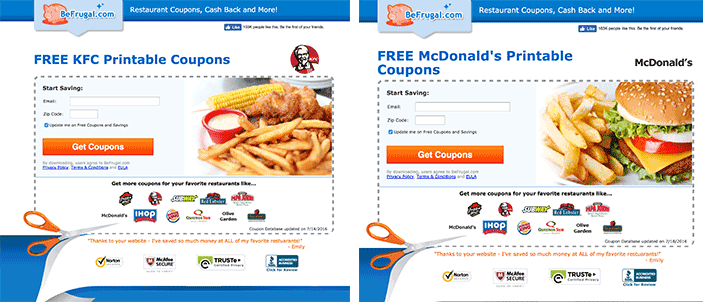 Image result for be frugal restaurant coupons