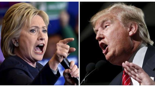 Image result for trump donald vs hillary clinton