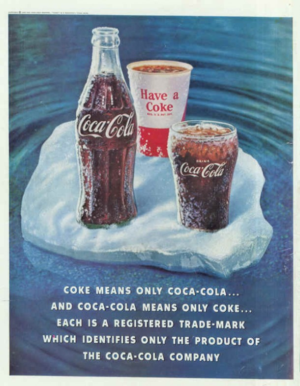 CocaCola magazine ads from 1960s
