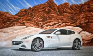 Fast Forward Ferrari FF painting by A.D. Cook