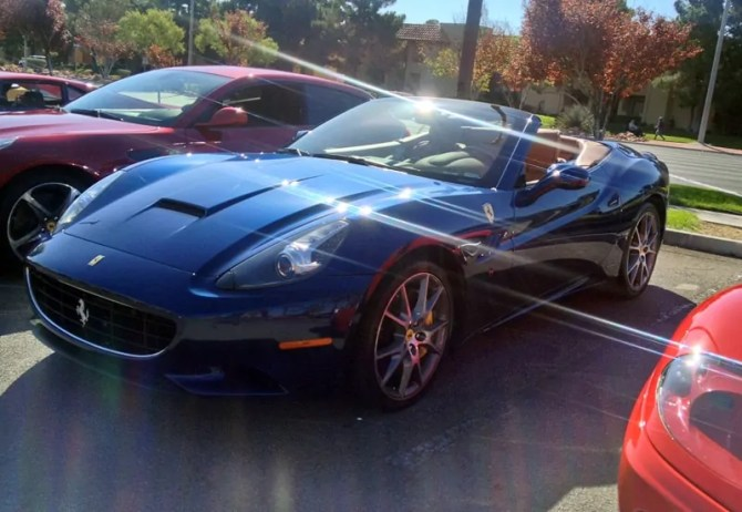 Blue Ferrari 599 at Italian Sports Car Day 2013. Las Vegas, NV.