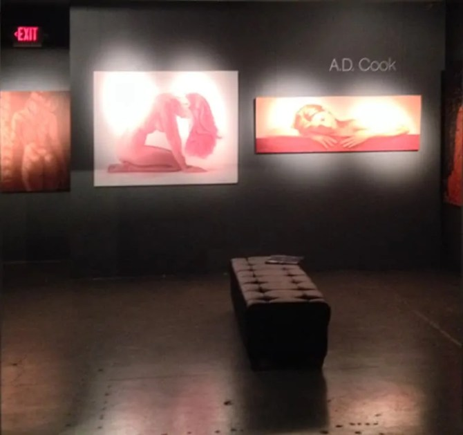 A.D. Cook Art at ArtisticLifestyles Gallery, Las Vegas, NV
