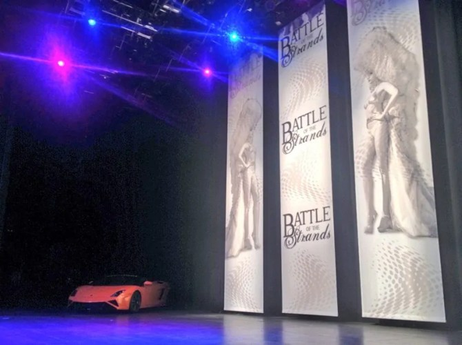 Battle Of The Strands 2013 - Lamborghini on stage
