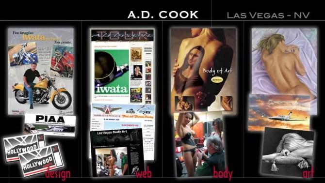 A.D. Cook Graphic Design - design, web, body art, art