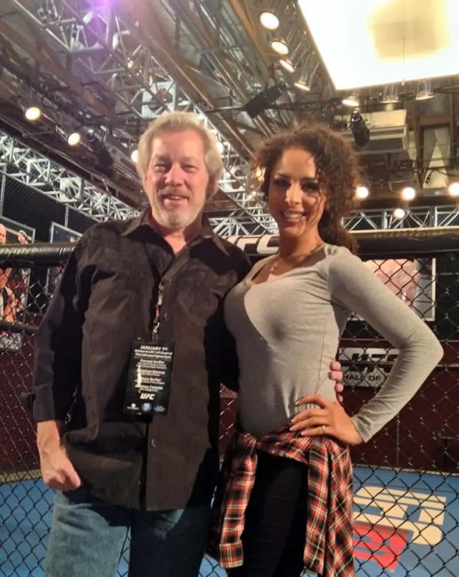 A.D. Cook with Brittany Bell, UFC Party, Las Vegas, NV