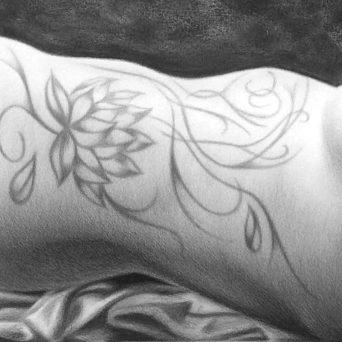 LOTUS by A.D. Cook - Tattoo Drawing Detail