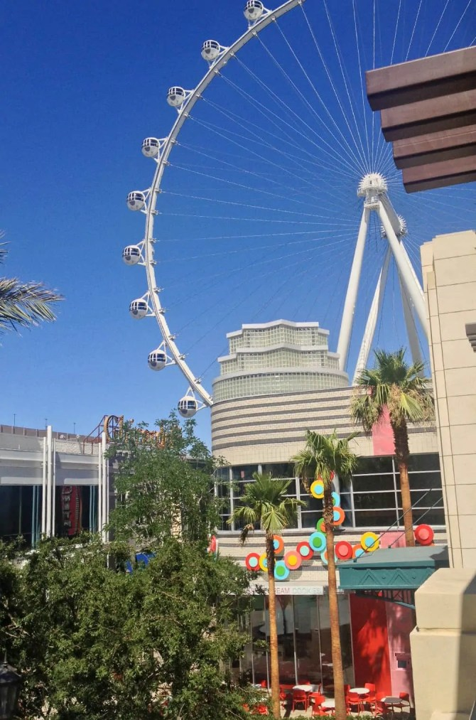 The LINQ High Roller from Brooklyn Bowl balcony.