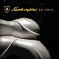 A.D. Cook St. Jude statue at Lamborghini Las Vegas