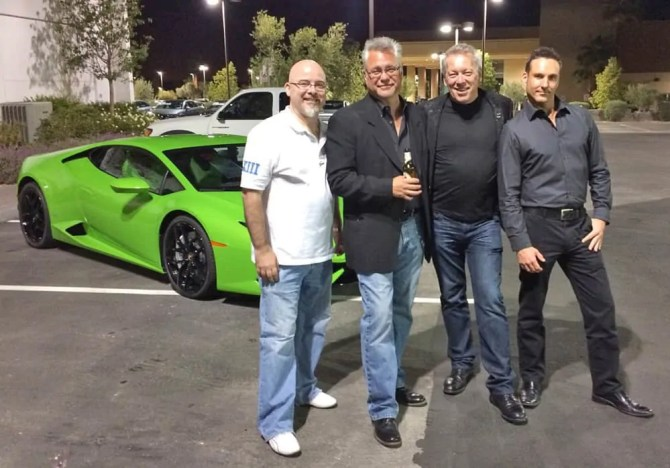 Lamborghini Aventador SV - DrLambo-TomBrazill, A.D. Cook and Michael Andreas at Lamborghini Las Vegas