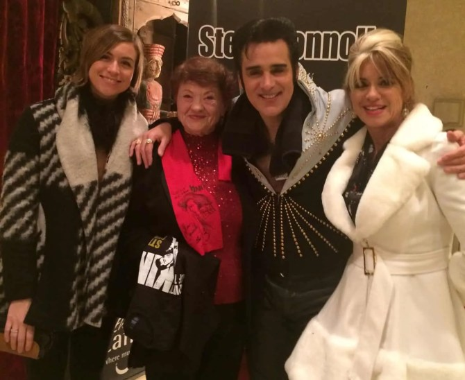 Csilla, Eta, Steve Connolly and Beti Kristof 12/24/15, Las Vegas, NV