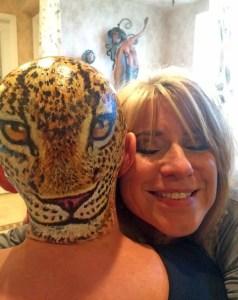 Gail's head art - with Beti - 123115