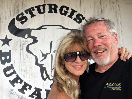 Artists A.D. Cook & Beti Kristof at Sturgis Buffalo Chip 2016