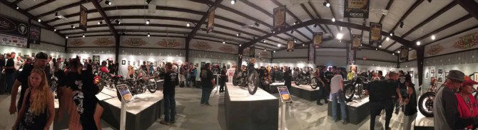 Motorcycle Artist A.D. Cook at Skin & Bones Art Show Sturgis 2016