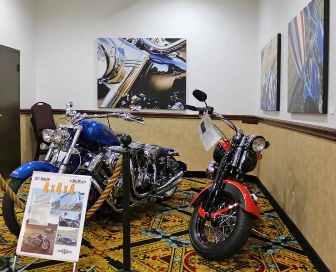 A.D. Cook Motorcycel Art at Railroad Pass Show Cars