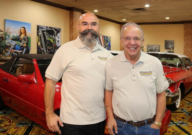 Bill Biler and joe, Sr at RailRoad Pass Show Cars