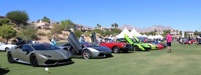 Lambos and exotics at Red Rock Concours dE'legance 2016