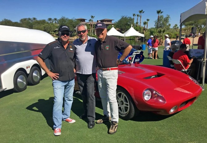 Tom Brazill, A.D. Cook and Peter Brock at Red Rock Concours d'Elegance 2016, Las Vegas, NV