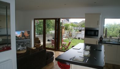 Interior View of Bifold Doors