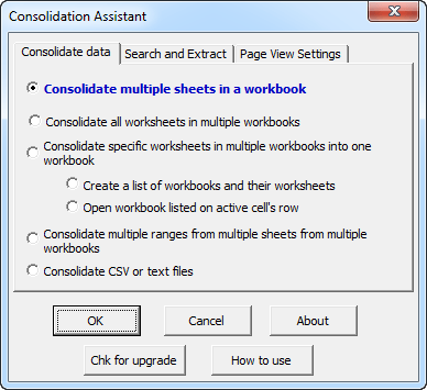 Consolidation Assistant for Microsoft Excel