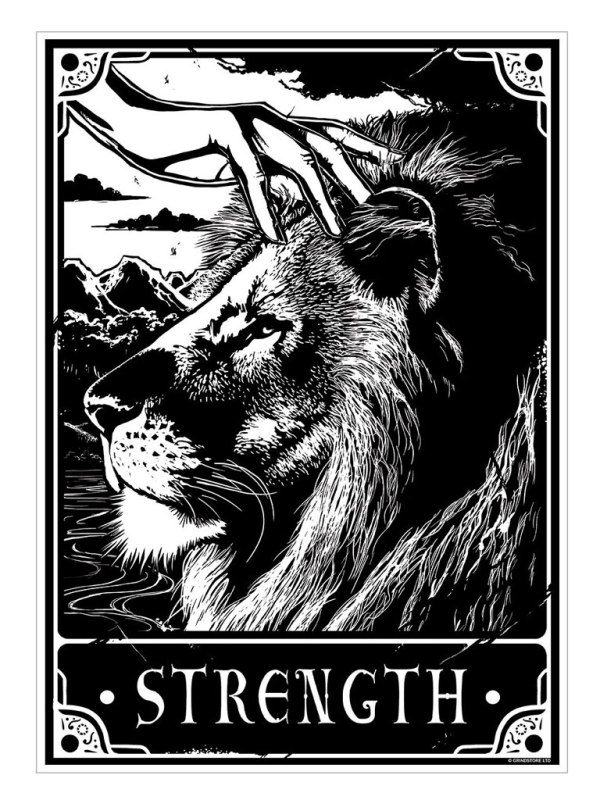 DEADLY TAROT - Strength Mini Poster