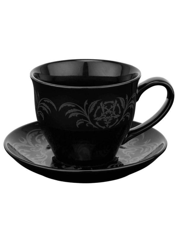 KILLSTAR - Morticia XL Tea Cup & Saucer