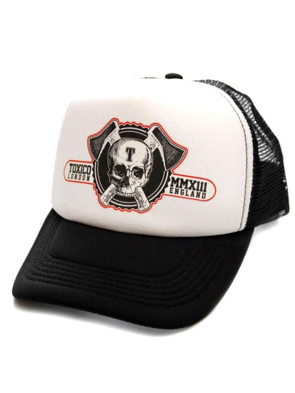TOXICO - Axe Skull Logo Keps Svart/Vit