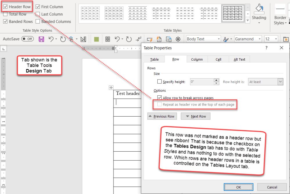 medium resolution of header rows in word tables help