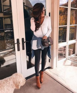 Cute Outfits Ideas With Leggings Suitable For Fall31