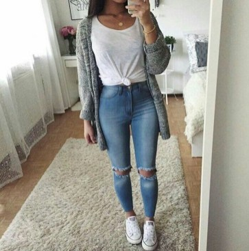 Easy And Cute Summer Outfits Ideas For School15