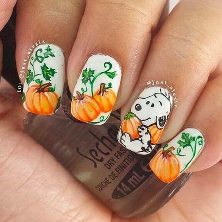Eye Catching Fall Nails Art Design Inspirations Ideas14