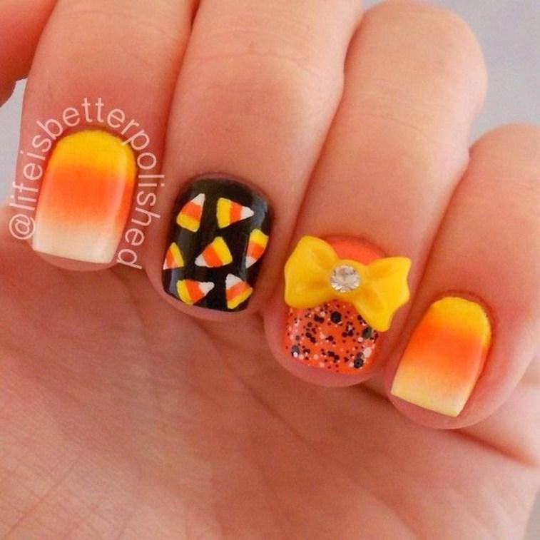 Eye Catching Fall Nails Art Design Inspirations Ideas23