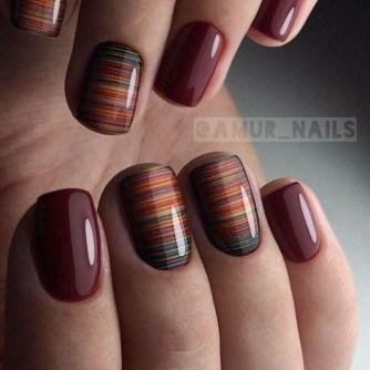 Eye Catching Fall Nails Art Design Inspirations Ideas38