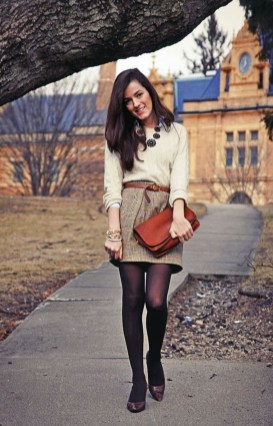 Modest But Classy Skirt Outfits Ideas Suitable For Fall07