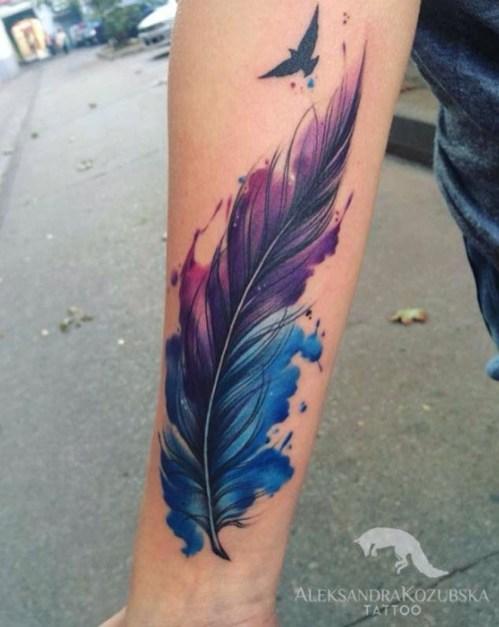 Awesome Feather Tattoo Ideas32