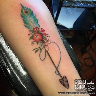Awesome Feather Tattoo Ideas33