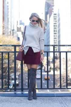 Adorable Winter Outfits Ideas Boots Skirts16