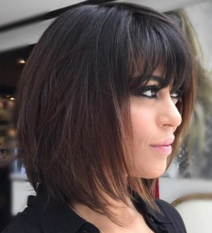 Cute Layered Bob Hairstyles Ideas09