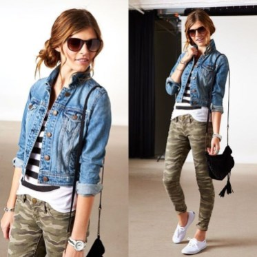 Delightful Winter Outfits Ideas Denim Jacket08