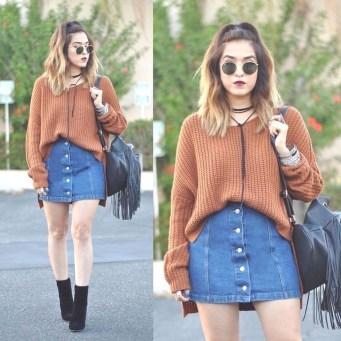 Fancy Winter Outfits Ideas Jean Skirts09