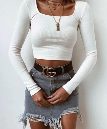 Fancy Winter Outfits Ideas Jean Skirts16