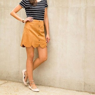 Fascinating Scalloped Clothing Ideas For Summer Outfits19