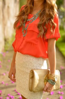 Incredible Skirt And Blouse This Fall Ideas39