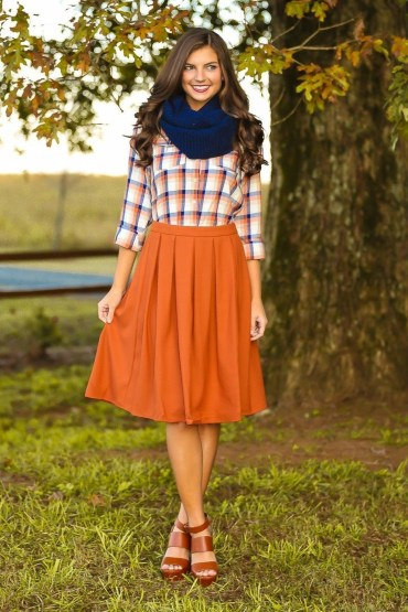 Incredible Skirt And Blouse This Fall Ideas47